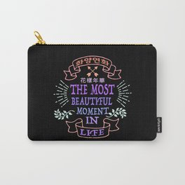 The Most Beautiful Moment in Life! 花樣年華 (화양연화) Carry-All Pouch