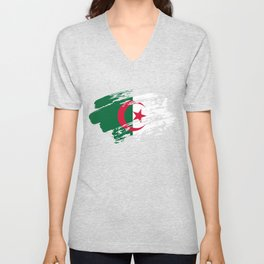 Algeria Flag Shirt Unisex V-Neck