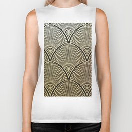 Golden Art Deco pattern Biker Tank