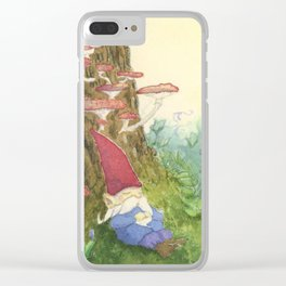 The Sleeping Gnome Clear iPhone Case