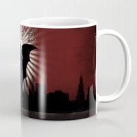 gotham Mugs featuring Gotham Life by Spicy Monocle