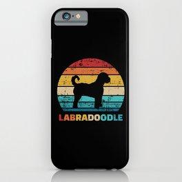 Labradoodle vintage iPhone Case
