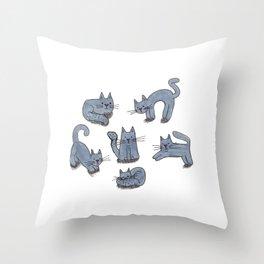 Kitty Club Throw Pillow