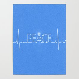 Peace Pulse Christmas Poster