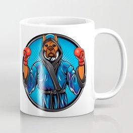 boxer dog with gloves and robe Coffee Mug