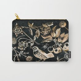 Golden set of birds, beetle, flowers and cherry fruit. Carry-All Pouch