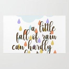 A little fall of rain Rug