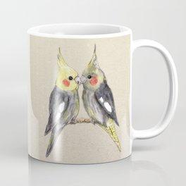Two cute cockatiels Coffee Mug