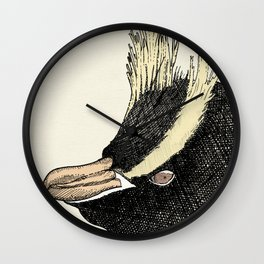 Erect Crested Penguin Wall Clock