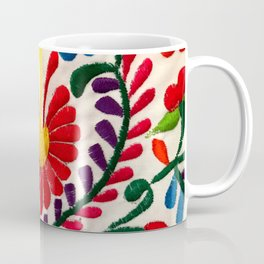 Red Mexican Flower Coffee Mug