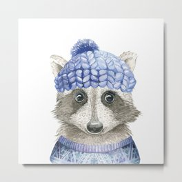 Raccoon face Metal Print
