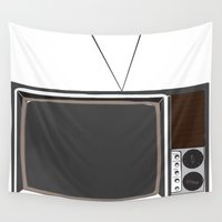 tv Wall Tapestries featuring Television by Jarom Ward