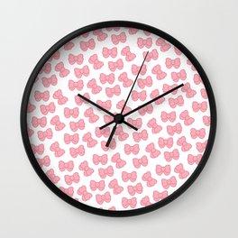 Kawaii Bows Wall Clock