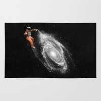 nasa Area & Throw Rugs featuring Space Art by Florent Bodart / Speakerine