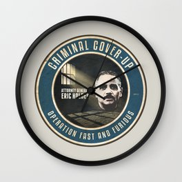 Fast And Furious Cover Up Wall Clock