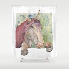 Happy Unicorn Shower Curtain