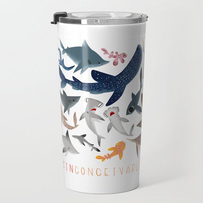 "FINconceivable Still ""Sharks"" Travel Mug"