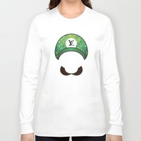 luigi Long Sleeve T-shirts featuring Luigi Vuitton by Sam Pea