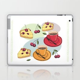 Cherry Pie And A Hot Cup Of Coffee Laptop & iPad Skin