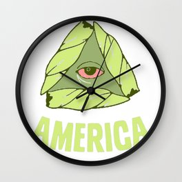 BAKE UP AMERICA T-SHIRT Wall Clock
