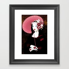Mona Geisha Lisa Framed Art Print
