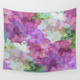 Sweet Peas Floral Abstract Wall Tapestry