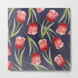 Tulipa pattern 5.1 Metal Print