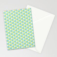 Teal and Yellow Pattern Stationery Cards