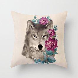 Gently Ferocious Throw Pillow