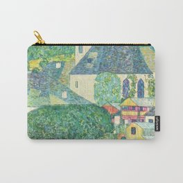 """Gustav Klimt """"Church in Unterach on the Attersee"""" Carry-All Pouch"""