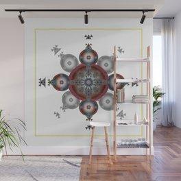 Deep Crimson Healing Ancient Cross Sacred Geometry Art Print Wall Mural