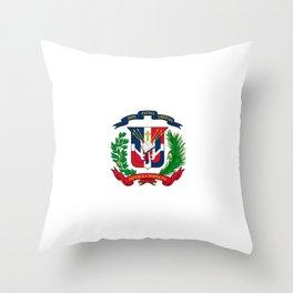seal of the dominican republic-dominican,hispaniola,dominicana,antilles,caribean,santo domingo Throw Pillow