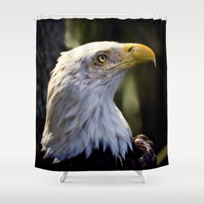 Proud Bald Eagle Shower Curtain