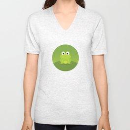 Froggy Unisex V-Neck