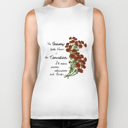 Carnation - Birth Month Flower for January Biker Tank