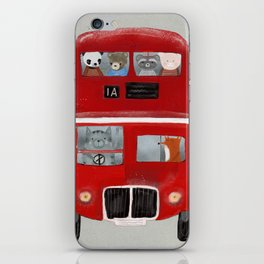 the little big red bus iPhone Skin