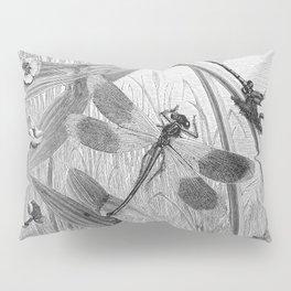 Dragonfly Wasserjungfern Line Art Pillow Sham