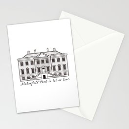 Sketch of Netherfield Park from Pride and Prejudice Stationery Cards