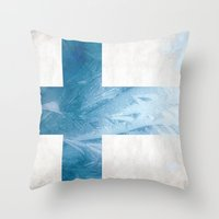 finland Throw Pillows featuring Finland by Fernando Vieira
