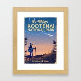 Kootenai national park Canada Framed Art Print