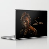 sam winchester Laptop & iPad Skins featuring Sam Winchester by Sarah Sangelus