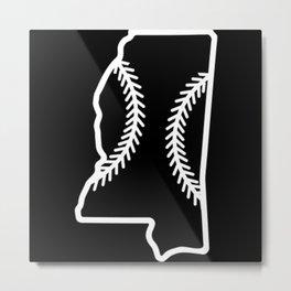 Mississippi Baseball USA State Pride Metal Print