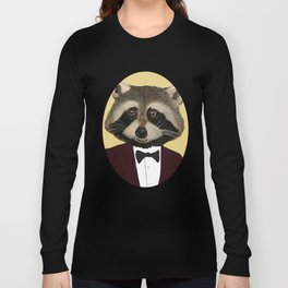 Sophisticated Raccoon Long Sleeve T-shirt