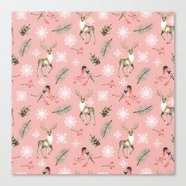 Xmas Pattern Pink #socieyt6 #buyart Canvas Print