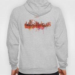 London Skyline watercolor Hoody