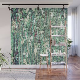 Abstract green Wall Mural