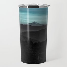 Ice Blue Mountainscape Travel Mug