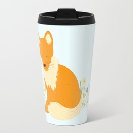Foxy - Modern, Cute, Quirky, Woodland Creature, Fox Illustration Print Travel Mug