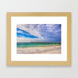 Island Beach Walk Framed Art Print