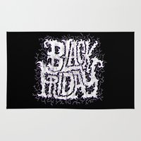 friday Area & Throw Rugs featuring Black Friday by Chris Piascik